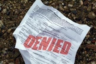 Denied loan application