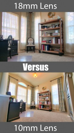 18mm lense vs 10mm lense