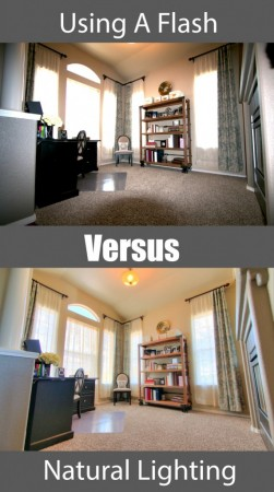 Using flash vs natural lighting