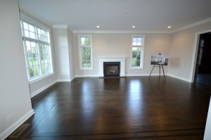 Dark Hardwood Flooring Living Room/dining ...