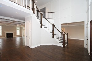 Foyer with Dark Hardwood