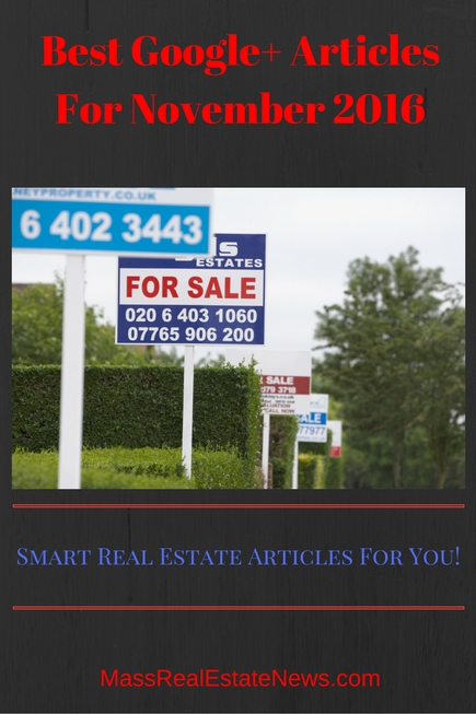 Best Google+ Real Estate Articles November 2016