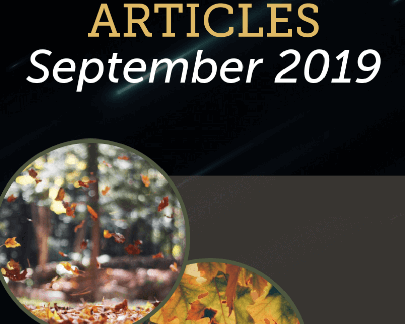 Best Real Estate Articles September 2019