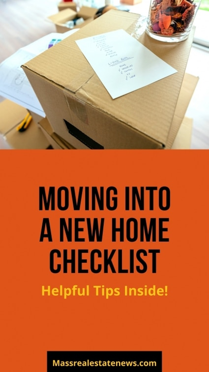 Moving Into Home Checklist